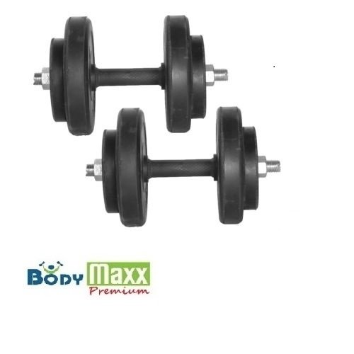 BodyMaxx 8 Max Dumbbells 14 Kg Body Maxx Adjustable RubbRDUMBELLS 14 Kg Body Maxx Adjustable Rubber Dumbells + 2Pcs Rods_r dumbells + 2pcs dumbells rods + gloves + rope)  available at amazon for Rs.999