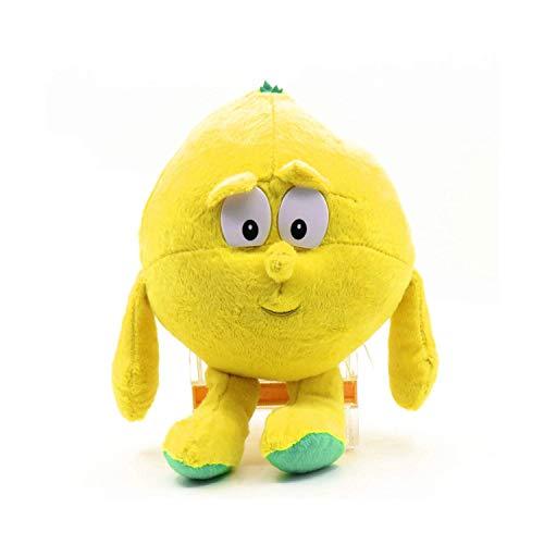 Wide.ling Nette Obst Gemüse Tier Plüschtier Baby Jungen Mädchen Stofftiere Schlaf Komfort Spielzeug Geburtstagsgeschenk Entzückende Plushie Spielzeug und Geschenke (Zitrone) -