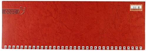 Baier & Schneider Querkalender Querterminbuch 2020, 1 Woche/ 1 Seite , 297 x 100 mm, Karton,Rot