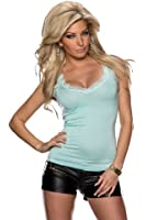 5863 Fashion4Young Damen Top aus feinem Stretch-Stoff Spitze verfügbar in 4 Farben