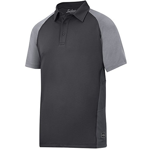 "Snickers Polo Shirt a.v.s Piquet "", multicolore, 27149504003 nero/grigio"