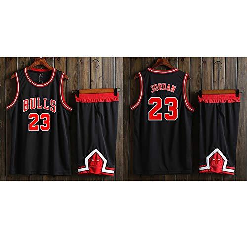 Basketballuniform, Herren Trainingsanzug, Bulls 23# Michael Jordan Basketball Weste, Top/Kurzanzug, atmungsaktives und feuchtigkeitsspendendes, schnell trocknendes Material.-L (Michael Jordan Kostüme)