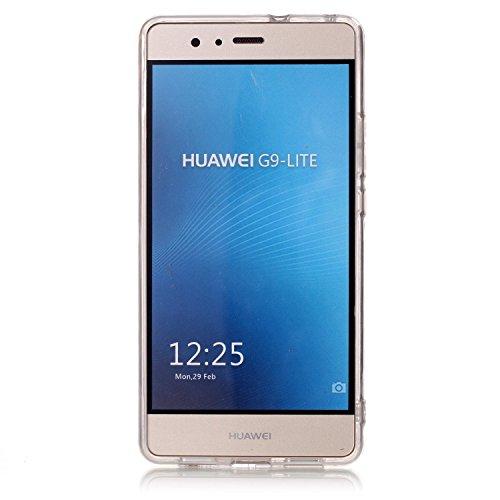Coque Huawei P9 Lite,Transparent Housse Etui Couverture pour Huawei P9 Lite,Ekakashop Ultra Mince Slim-fit imprimée Coque de Protection en Hybrid Crystal Clear PC Plastique Silicone Arrière Cover Case Pissenlit
