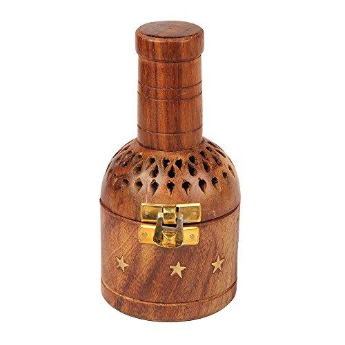 aheli Räucherstäbchenhalter im Bottel-Stil, Holz, mit quadratischem Sockel und Kegelform - Quadratischen Sockel Aus Holz