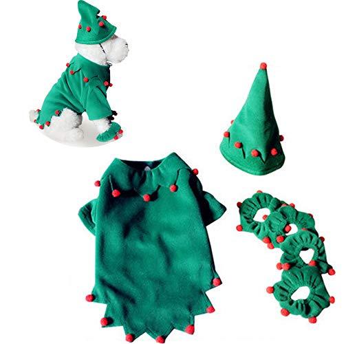 JLCYYSS Pet Coat, Haustier Kostüm Hund Weihnachten Halloween Elf Style Decor Kleidung Bekleidung,S