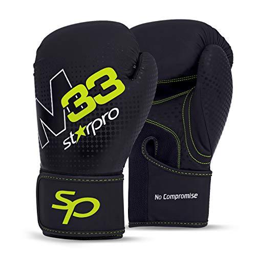 Starpro Boxhandschuhe Muay Thai Training Boxsack -Kickboxen, Sparring, Sandsack, Leder Punchinghandschuhe Mitts Boxing Gloves |8oz 10oz 12oz 14oz 16oz| Männer und Frauen | -