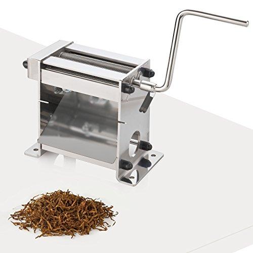 Tabakschneidemaschine TC-100 Plus mit Kugellager 0,8mm Tabakschneider Tabakblätter Tobacco