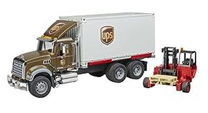 Bruder-02828-Camión Mack Granite UPS con Mueble élevateur