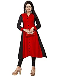 Muta Fashions Crepe Red Women Kurti (KURTI349_Red)