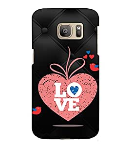 Fuson Designer Back Case Cover for Samsung Galaxy S7 Edge :: Samsung Galaxy S7 Edge Duos :: Samsung Galaxy S7 Edge G935F G935 G935Fd (Love bird theme)