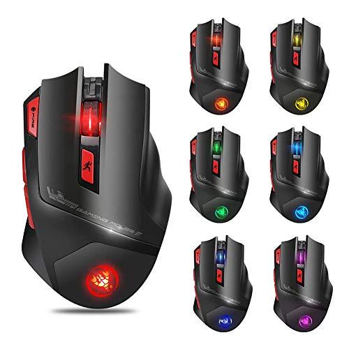 Cl5 Notebook (Millster Farbenfrohe kabellose Maus mit Hintergrundbeleuchtung bis zu 4800 DPI programmierbarer Maus für Laptop/Desktop-Maus)