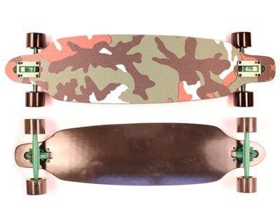Moose Drop Through Camo Complete Longboard 36x9.25 Skateboard Cruiser