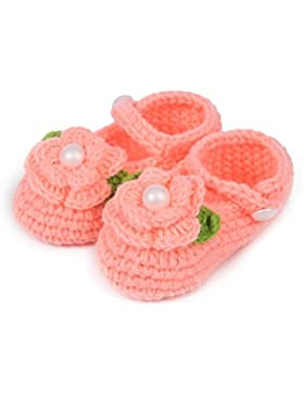 tfxwerws bebé recién nacido calcetines de punto Crochet sandalias infantil shoes-watermelon (rojo)