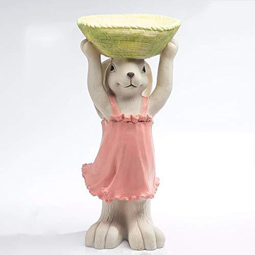 Lrxq vaso da fiori multifunzionale gonna rosa forma a forma di coniglietto vaso da fiori vassoio chiave oggetti vari scatola di immagazzinaggio ornamenti da giardino