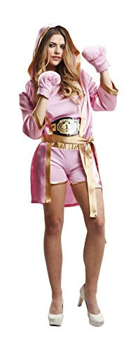 Imagen de my other me  disfraz de boxeadora para mujer, m l, color rosa viving costumes 203346