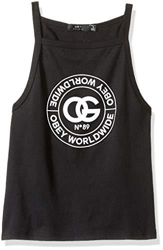 Obey Damen RUE DE LA RUINE T-Shirt, schwarz, Klein - Obey Schwarzes T-shirt