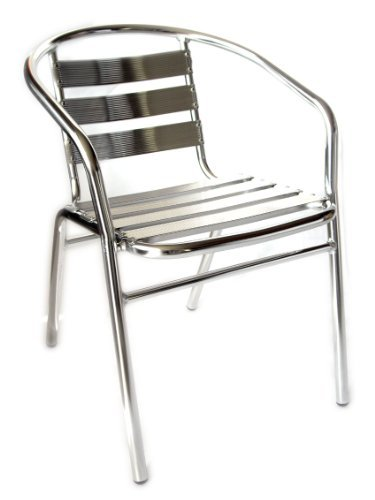 San marco smdc101x2 2 sedie alluminio impilabili per bar for Sedie in alluminio