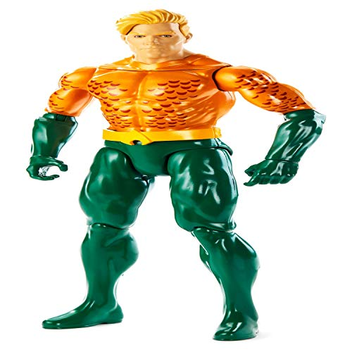 DC Justice League Figura de Acción 30 cm Aquaman, Juguetes Niños +3 años (Mattel GDT52)