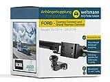 Weltmann 7B060011 Ford TOURNEO Connect + Grand TOURNEO Connect (Kombi) - Flanschkugel Anhängerkupplung inkl. fzsp. 13-poligen E-Satz