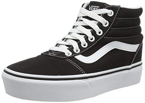 Vans Ward Hi Platform, Zapatillas Altas para Mujer, Negro Canvas Black/True White 1wx, 38 EU