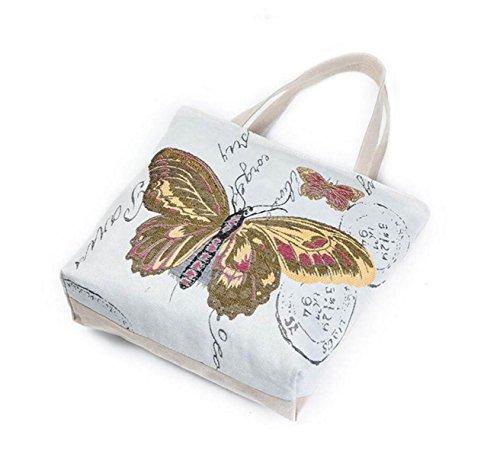FZHLY Creativo Tela Farfalla Stampa Lady Shoulder Bag,612b 612a