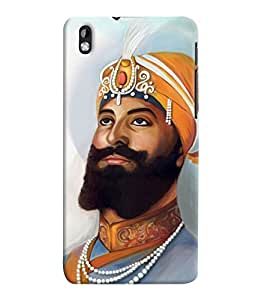 Fuson 3D Printed Lord Guru Gobind Singh Designer Back Case Cover for HTC Desire 816 - D521