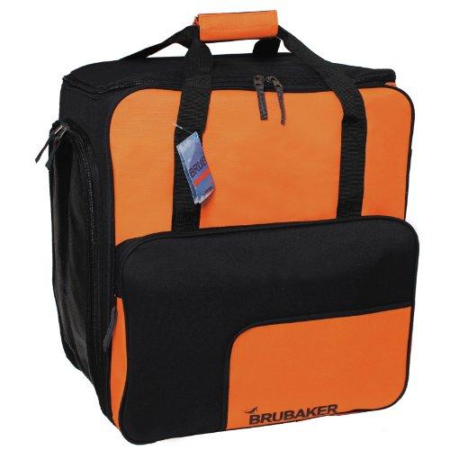 BRUBAKER 'Super Function 2.0' - Nouvelles couleurs - Sac à chaussures de ski, Sac casque, Sac à dos ski - Orange / Noir