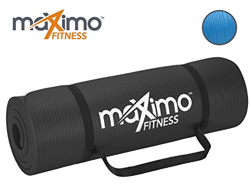 Tapis d'entrainement extra épais - Tapis de Gym antidérapant de première qualité - multi fonctionnel - 183cm Longueur x 60cm Largeur x 1.5cm Épaisseur - Parfait pour Pilates, Exercices au Sol, Gym. (Black)