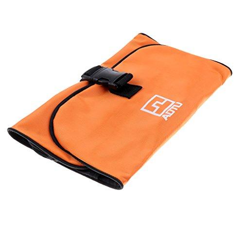 MagiDeal Sac de Toilette Portable Sacoche Organisateur Cosmétique Bagage Voyage Sports Camping - Orange