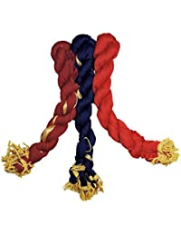Weavers Villa Womens Chiffon Dupatta Set Of 3 (Dp--3-(Mar-Red-Navy)_Multi_Medium)