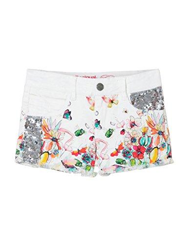 Desigual DENIM_ABAD, Pantaloncini Bambina, Bianco (Blanco 1000), 10 anni (Taglia Produttore: 9/10)