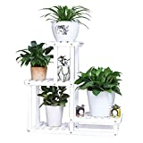 SACKDERTY Flower Stand cremagliera Balcone ad Angolo retto in Legno a più Strati Landing Corner Rack Flowerpot Plant Shelf Living Room Succulente Indoor Outdoor