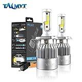 H4 led Kit de conversion, H4 LED phares Voiture 72W 6000K 3800lm haut bas phares de double faisceau de LED remplacent pour des ampoules halogènes de HID- H4