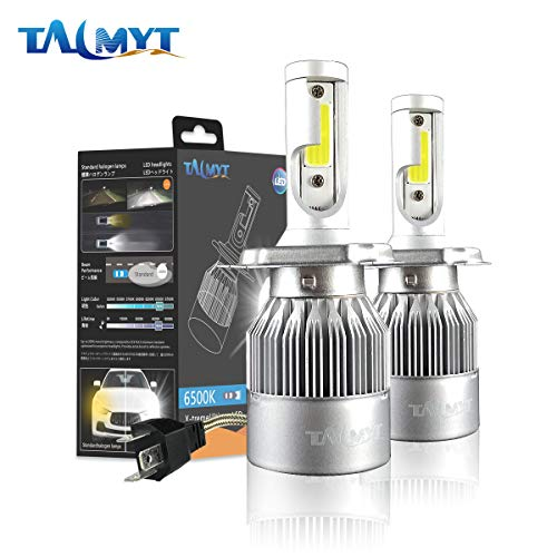 H4 LED Headlight Bulbs 72W 8000lm 6500K White All-in-One Conversion Kit 12v Auto Headlamp fog lamp