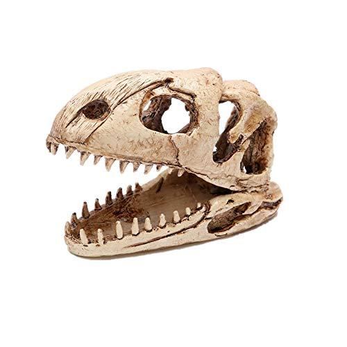 KICCOLY Rettile Nascondi Cave Decor Acquario Foro di Tartaruga Cranio Dinosauro
