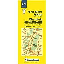 Carte routière : Forêt Noire - Alsace, N° 278