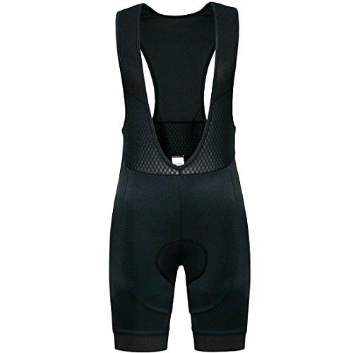 Bike-shorts-leggings (Wantdo Herren Radfahren Bib Shorts Atmungsaktiv Quick Dry Mesh 7D Gepolsterte rutschfeste Rididng Bike Shorts Radfahren Hosen Leggings Strumpfhosen Schwarz Large)