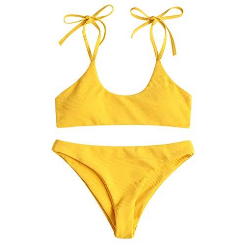 Frau Brasilianischer Push Up Anzug Badeanzug Sexy Sommer Frau Bikini Einfarbig Badeanzug Frau Zweiteiler Beachwear Frau Beachwear Badeanzug Badeanzug Frau Gepolsterter BH swimsuit swimanzug swimwear