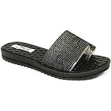 SKO'S - Zapatillas para mujer Black (mxl02) AqgqROrgBr