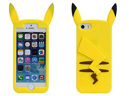 Funda-de-Gel-Forma-Pikachu-de-Espaldas-Silicona-Carcasa