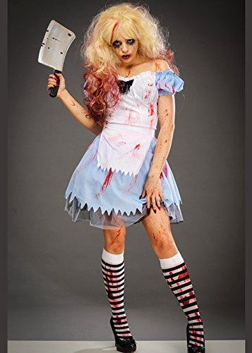 Wunderland Erwachsene Alice Gothic Im Kostüm Für - Damen Gothic Untoter Zombie Alice Costume