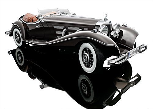 Bauer Exclusive Mercedes-Benz 500 K Spezial Roadster 1934: Originalgetreues, hochwertiges Modellauto 1:12 in limitierter Auflage, mit Türen und Motorhaube zum Öffnen, Fertigmodell, dunkelbraun (S018H)