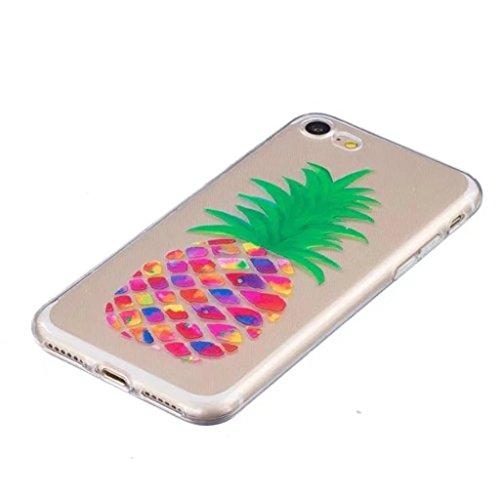 Iphonese/5/5S del telefono Wyrhs ultra-sottile TPU di silicone liscio buona qualità in Beautiful pattern design antigraffio ammortizzante trasparenti Phone shell-sweetheart + metallo penna di tocco, s pineapple