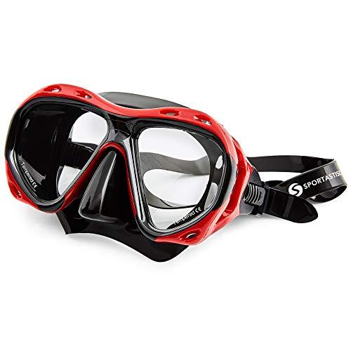 Sportastisch Taucherbrille Top¹ Redfish | Premium Tauchermaske mit Antibeschlag- und UV-Schutz | ideal für Erwachsene und Kinder ab 10 Jahre | bis zu 3 Jahre Garantie²