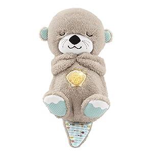 Fisher-Price FXC66 – Schlummer Otter Spieluhr aus Plüsch beruhigender Musik, Licht und Atembewegungen, Einschlafhilfe für Babys, ab der Geburt