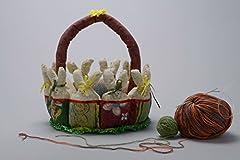 Idea Regalo - Cestino pasquale fatto a mano cestino decorativo in stoffa idee regalo