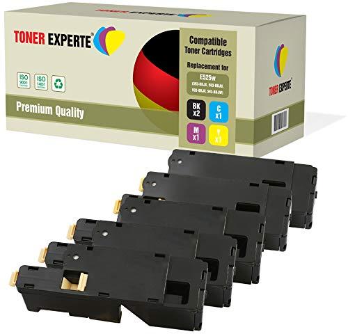 TONER EXPERTE® 5 Premium Toner kompatibel zu 593-BBLN 593-BBLL 593-BBLZ 593-BBLV für Dell E525w - Dell Drucker