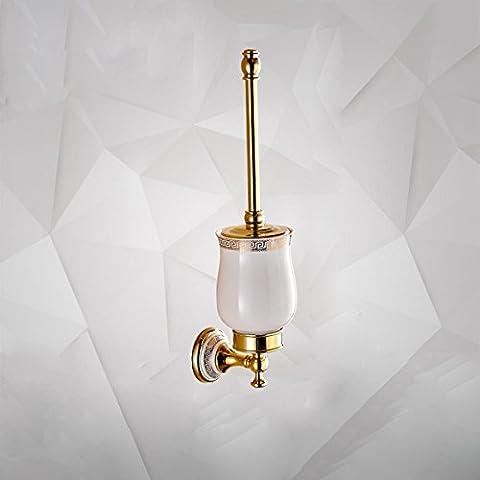 by-european Retro, WC, WC-Bürstenhalter, Messing verchromt, Kupfer WC-Bürste