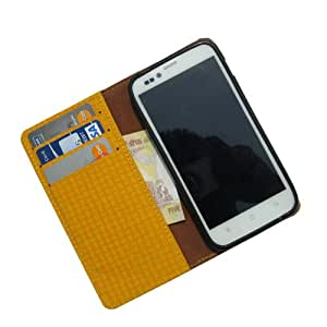 i-KitPit - PU Leather Wallet Flip Case Cover For Samsung Galaxy Grand 2 (YELLOW)