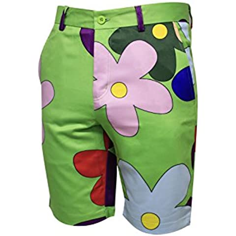 Golf vendita. bloomers- Bedlam Golf shorts- colorati, wacky divertente e pantaloncini da golf 28R, 30R, 32R, 34R, 36R, 38R,, 38R